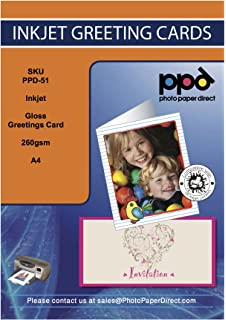 20 print your own personalised greeting cards a4 folded to a5 ppd inkjet gloss greeting card paper super heavyweight a4 to a5 260gsm with envelopes x 50 m4hsunfo