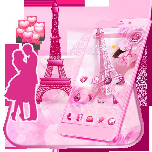 Pink Paris Love Theme & Wallpaper