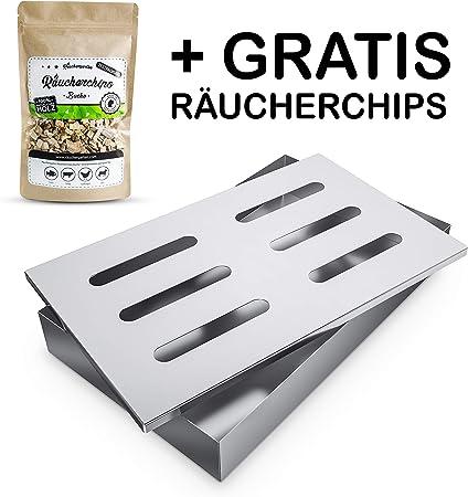 Räucherbox Edelstahl Grillzubehör Profi Smoke Box Räucherzubehör Smokerbox Grill