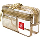 Rough Enough TSA Approved Clear Toiletry Bag Makeup Organizer Bag Case for Men Women Boy Girl See Through Travel Dopp…