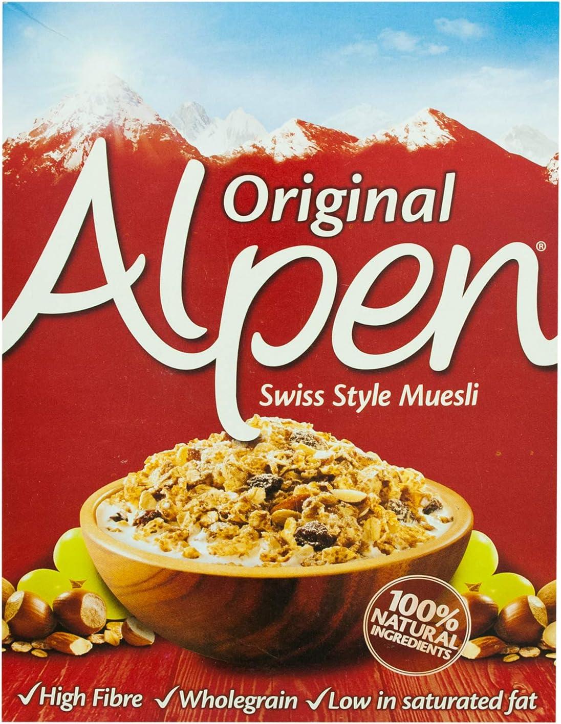 Alpen Cereales Muesli Original , Caja 625 gr: Amazon.es ...