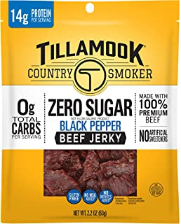 product image for Tillamook Country Smoker Zero Sugar Black Pepper Keto Friendly Beef Jerky, 2.2 Ounce (Pack of 1)