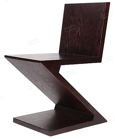Marvelous Gerrit Thomas Rietveld Chair, MDF With Ash Wood Skin. (Dark Walnut)