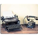 MSD Mousepad IMAGE ID 20151768 Vintage telephone old typewriter on table