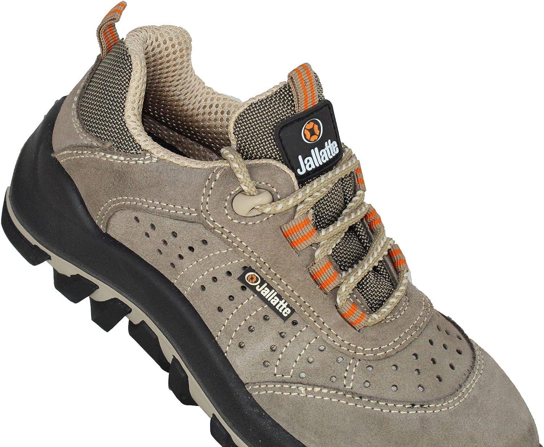 Jaleol SAS S1P SRC Travail Chaussures de Travail Chaussures Gris Plat