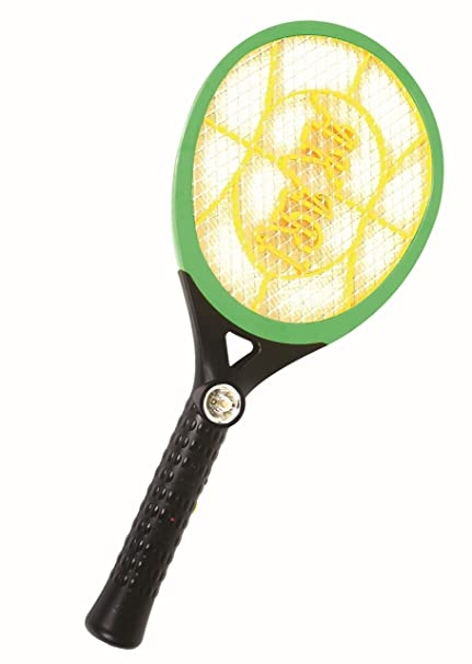Feomy Rechargeable Mosquito Insect Killer Racket With Led Torch