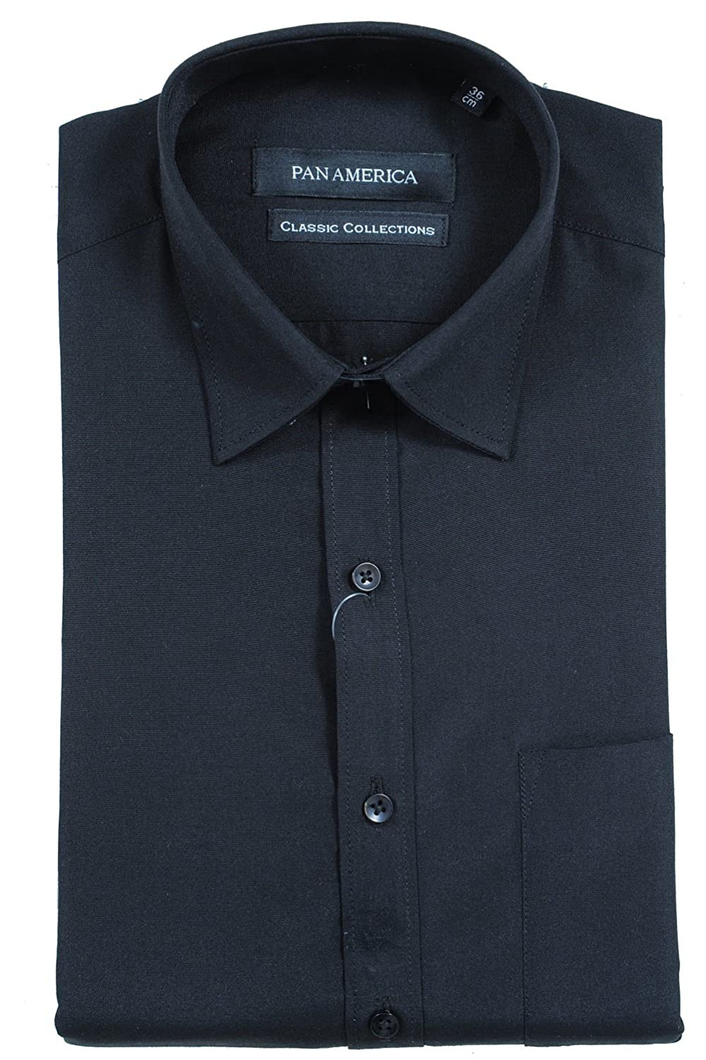 Pan America Men'S Formal Shirt (1968096031_Black_36): Amazon.in ...
