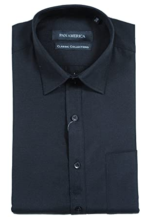 PAN AMERICA Men's Formal Black Shirt: Amazon.in: Clothing ...