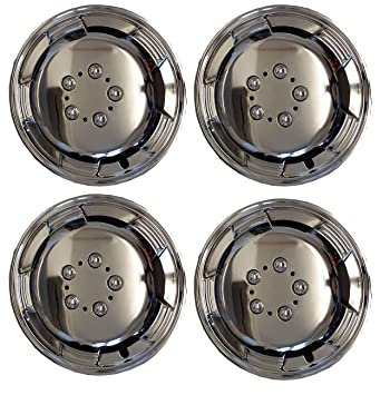 UKB4C 4x Chrome 14 Inch Silver Extra Deep Dish Van Wheel Trims Hub Caps For Fiat Scudo: Amazon.co.uk: Car & Motorbike