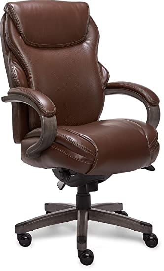 La Z Boy CHR10044C Hyland Office Chair, Executive, Brown And Gray