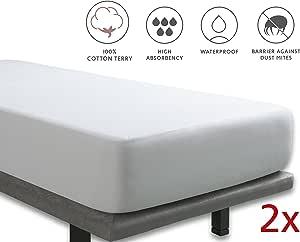 Tural – Protector de colchón Anti Bacterias. Impermeable y ...