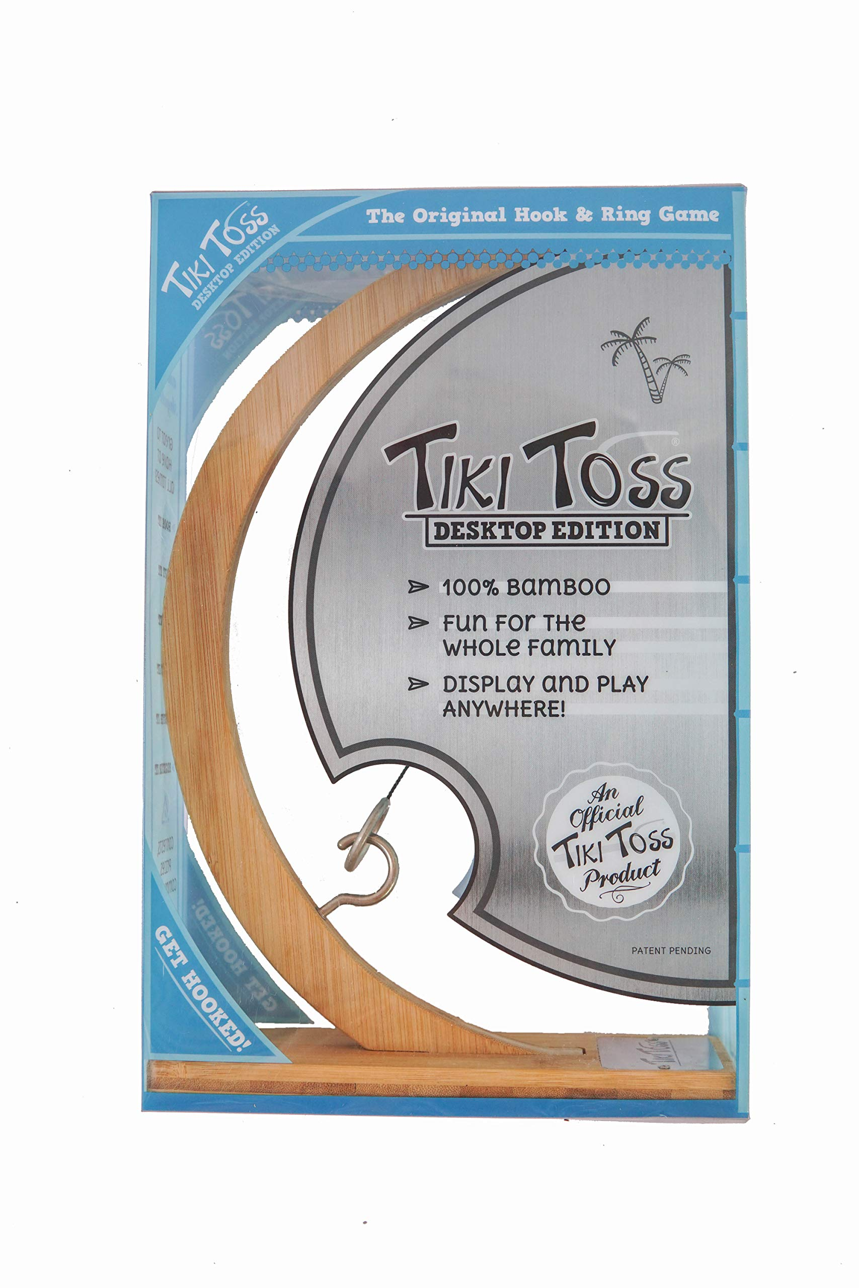 Tiki Toss Original Ring Toss, Hook and Ring Game Desktop Bamboo Edition by Tiki Toss