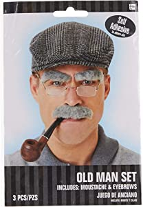 amscan Old Man Moustache and Eyebrows Set