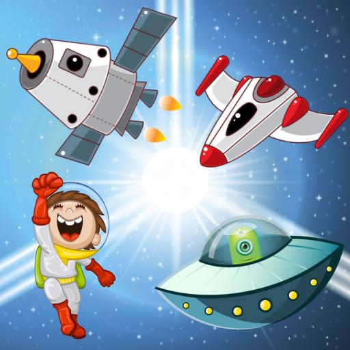 Rompecabezas para niños : descubrir la galaxia y la nave