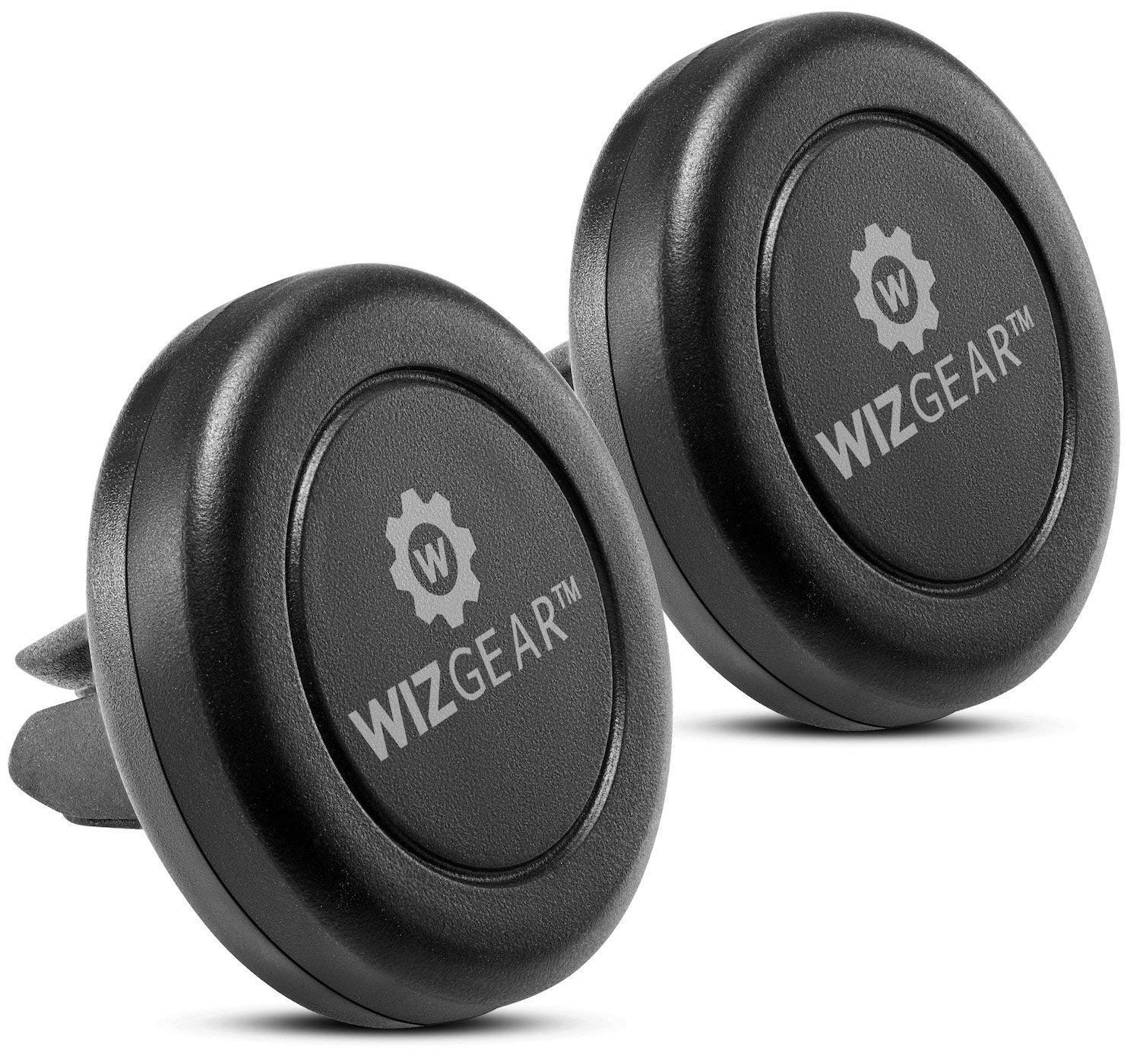 Magnetic Phone Mount, WizGear [2 Pack] Universal Air Vent Magnetic Car Mount Phone Holder, for Cell Phones and Mini Tablets with Fast Swift-Snap Technology, with 4 Metal Plates
