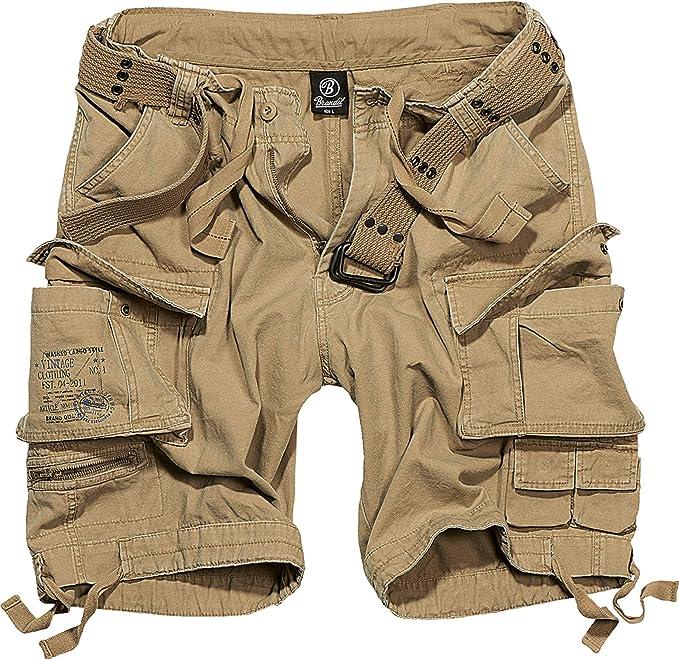 Brandit Salvaje Pantalones Cortos Vintage Pantalones Cortos Vintage Negro - Beige, 4XL