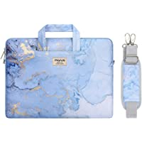 MOSISO Laptop Shoulder Bag Compatible with 2019 MacBook Pro 16 inch A2141, 15 15.4 15.6 inch Dell Lenovo HP Asus Acer Samsung Sony Chromebook, Watercolor Marble Briefcase Sleeve with Trolley Belt