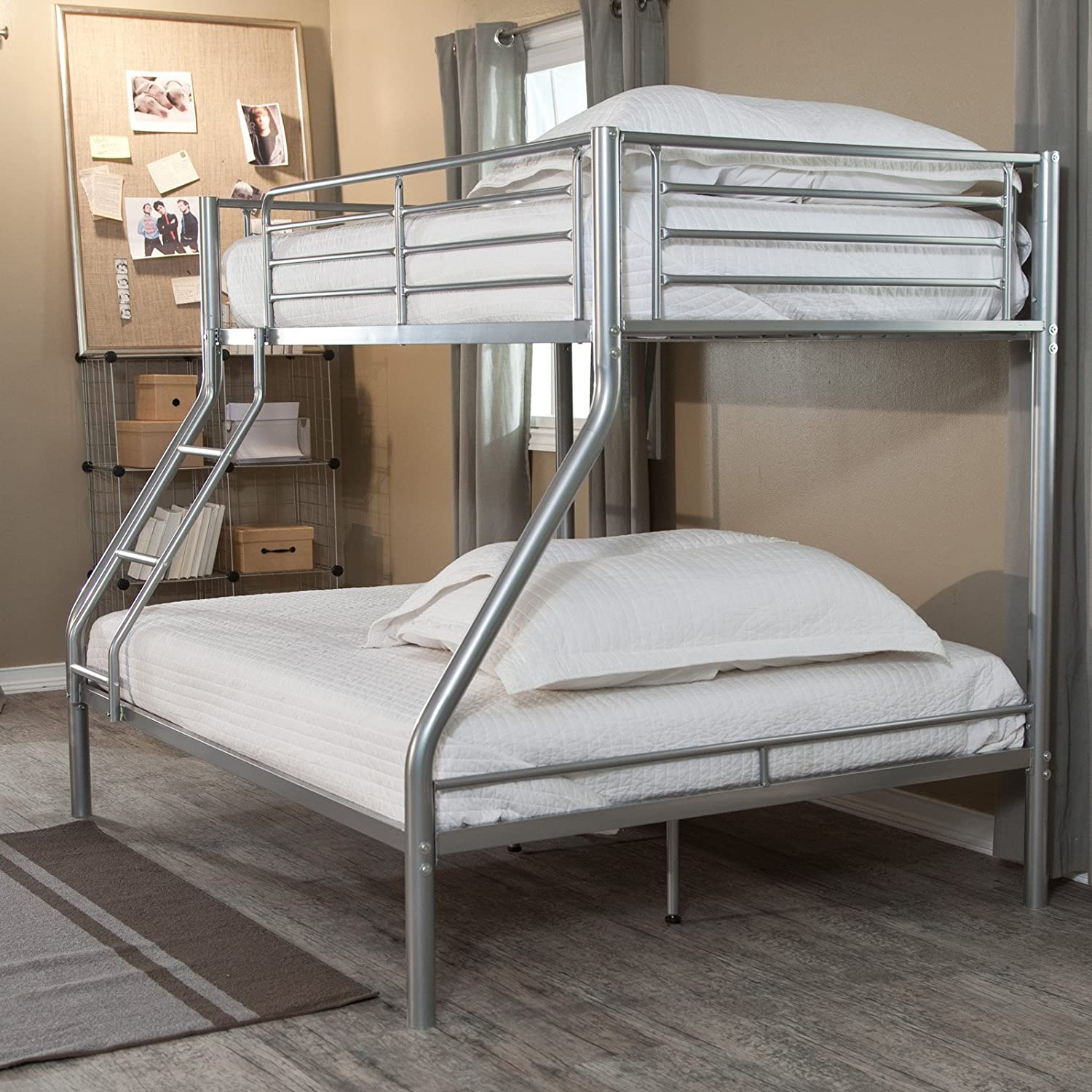 graphite rustic bed grey with jackson trundle bunk product pecan full over white espresso