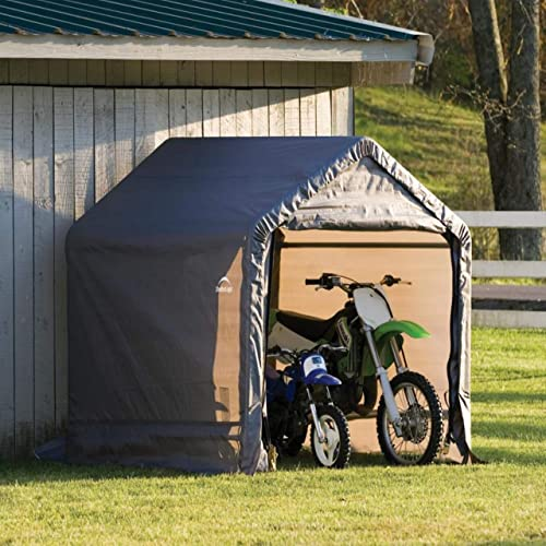 ShelterLogic Steel Metal Peak Roof Outdoor Storage Shed