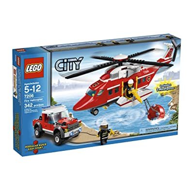 LEGO City Fire Helicopter (7206): Toys & Games