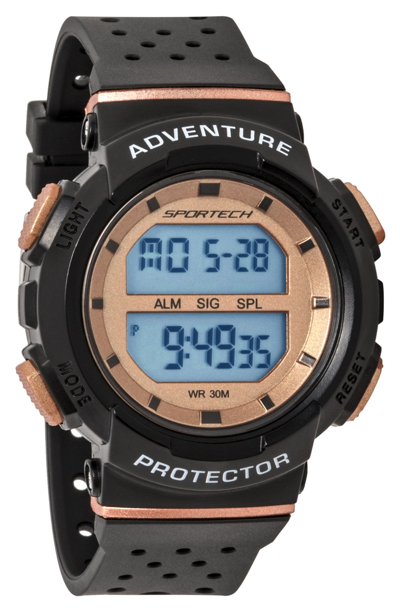 SPORTECH Unisex | Black & Rose Gold Digital Water-Resistant Sports Watch | SP12706 by Sportech