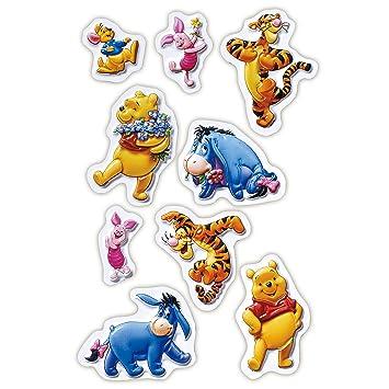 Disney - Winnie Pooh 3D Sticker Set ( 9 Stück) / Wandtattoos ...