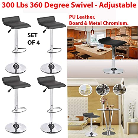 Remarkable Amazon Com 300 Lbs 360 Degree Swivel Adjustable Bar Stool Gmtry Best Dining Table And Chair Ideas Images Gmtryco