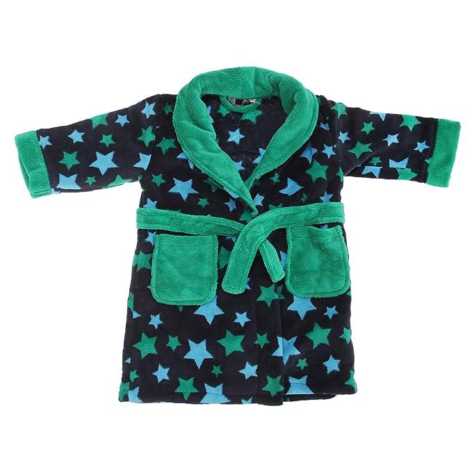 Bata de estar por casa de micro-polar con estampado de estrellas para niños (