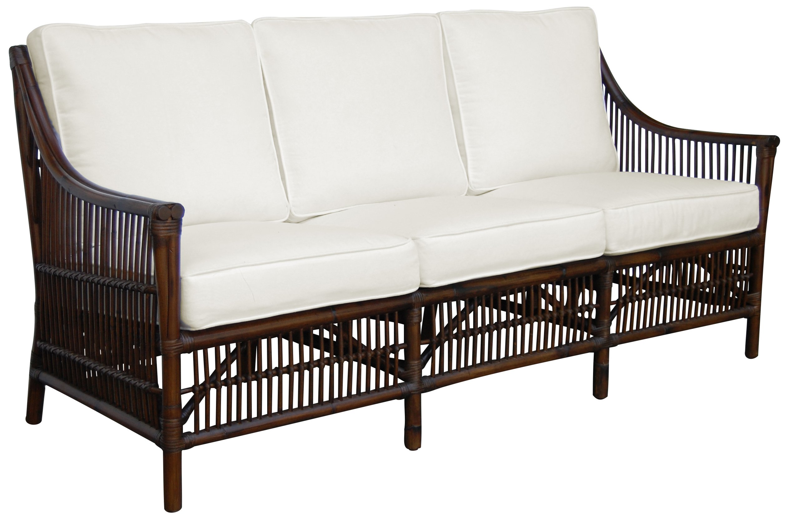 Panama Jack Sunrooms PJS-2001-ATQ-S Bora Bora Sofa with Cushions, Light Beige