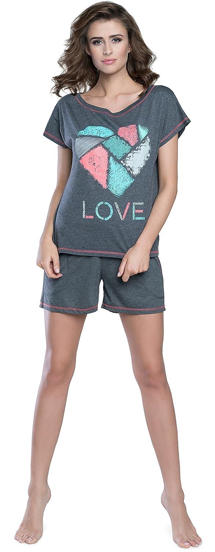 Italian Fashion IF Pijama Camiseta y Pantalones Mujer IFS18003