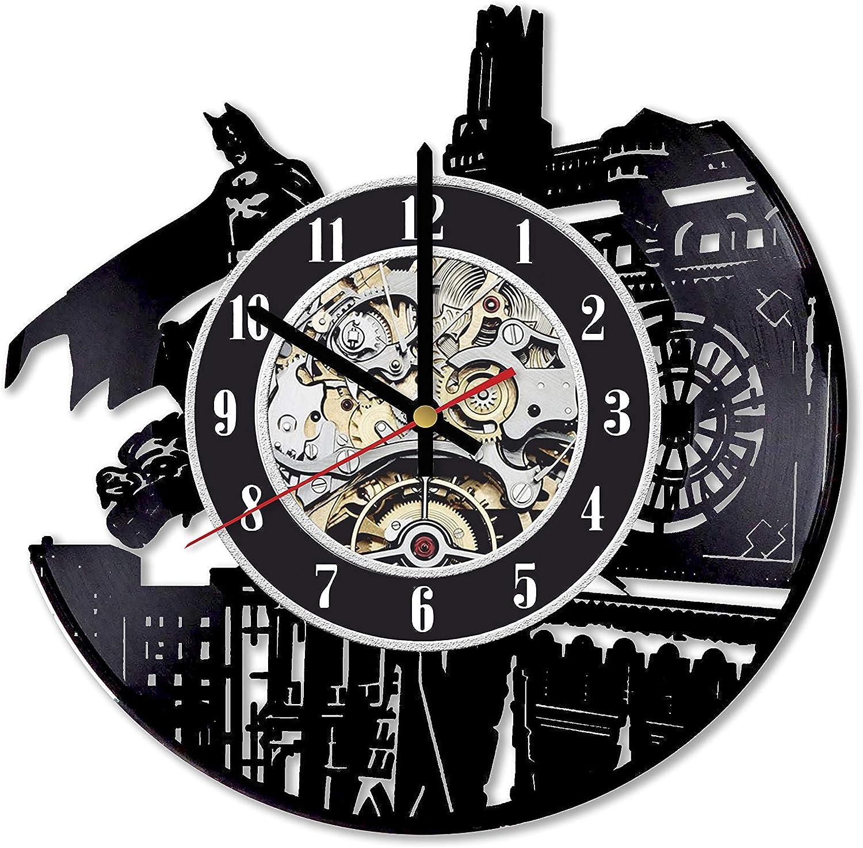 Batman Clock, Batman Art, Batman Wall Decor, Batman Room Decor, Batman Vinyl Record Clock, Batman LP Clock, Batman Gift Ideas