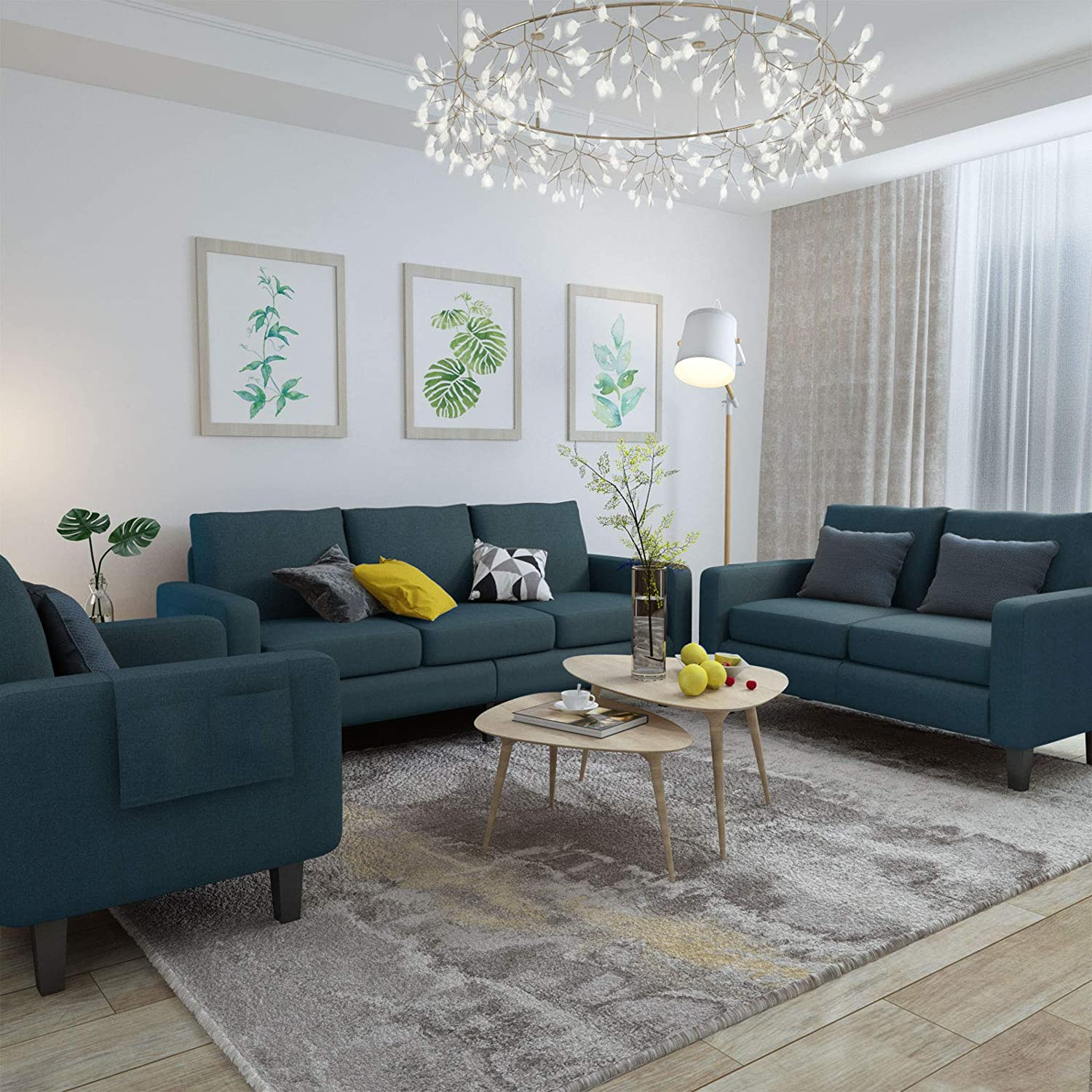 Best for Budget-Friendly: Mecor 3 Piece 7 Seat Sofa Under the Budget.