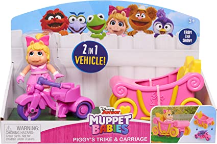 Multicolor Just Play Muppets 14432 Babies Piggy N Trike N Carriage