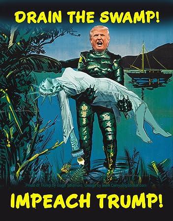 Impeach Trump Anti-Trump Bumper Sticker CarryaBigSticker