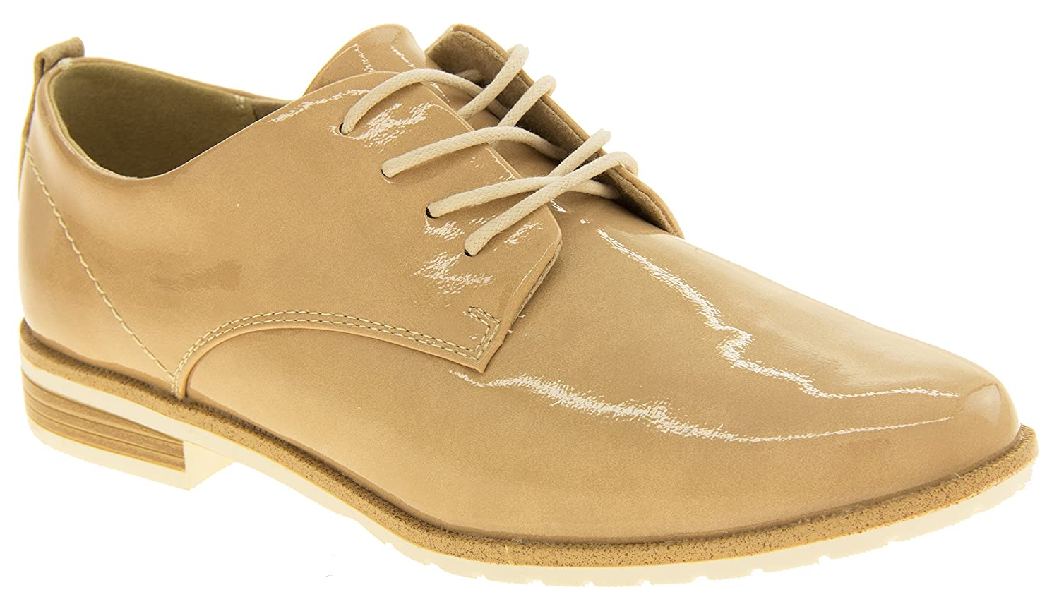 d160611007f2 Footwear Studio Womens Marco Tozzi Faux Leather Lace Up Summer Brogue Shoes   Amazon.co.uk  Shoes   Bags