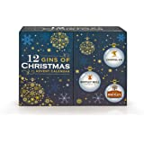 12 Gins of Christmas Advent Calendar - Hand Crafted and Organic Gin Collection includes  JJ Whitley, Whitley Neill and Liverpool Gin