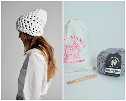 a00a8ac1093 Image Unavailable. Image not available for. Color  Loopy Mango DIY Kit -  Slouchy Crochet Beanie ...