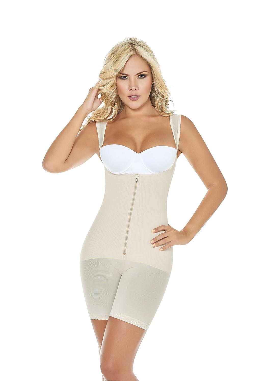 0944804bf81ca Amazon.com  Women s Bodysuit Extreme Body Shaper Thermal T-Shirt Shapewear  Faja Colombiana  Clothing