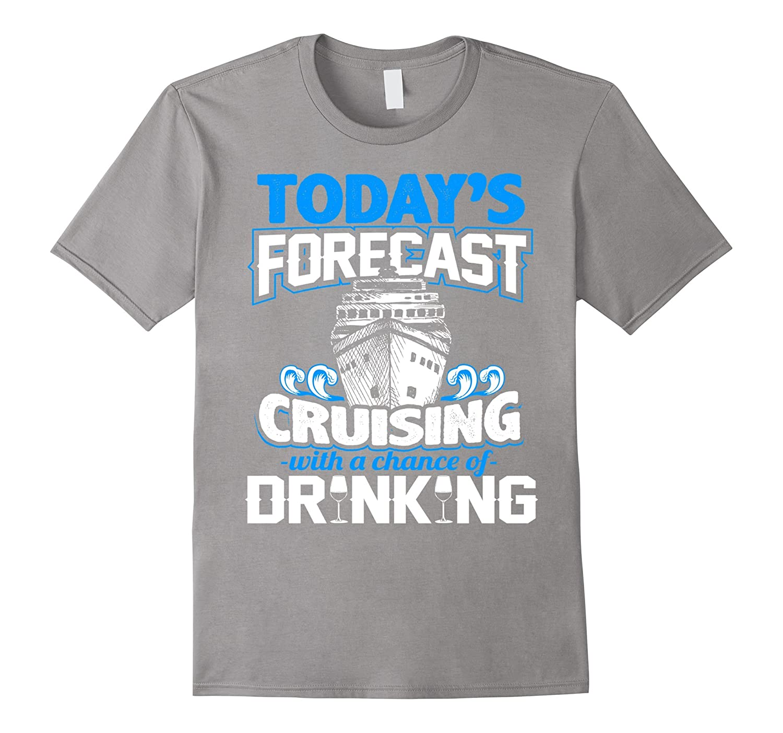 Cruise Cruising Ship Boat Forecast Yacht Voyage Fun T-Shirt