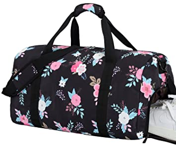 83258a9e7cfb Image Unavailable. Image not available for. Color  BLUBOON Women Overnight  Weekender Bag Ladies Duffel Bag Gym Luggage Tote ...