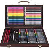 Art 101 Creativity Art Set with 106 Pieces in a Wood Carrying Case
