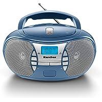 Karcher RR 5025-C draagbare CD-radio (CD-Player, FM-radio, ontvanger en netvoeding, AUX-In) blauw