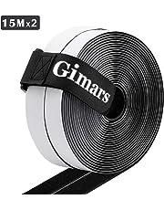 Gimars Nastro Adesivo in velcro Tessuto,Hook Loop Strisce Adesivo Fissaggio Sicuro per Lavori Manuali e DIY/Dotata di Fascetta con Fibbia per Organizzare
