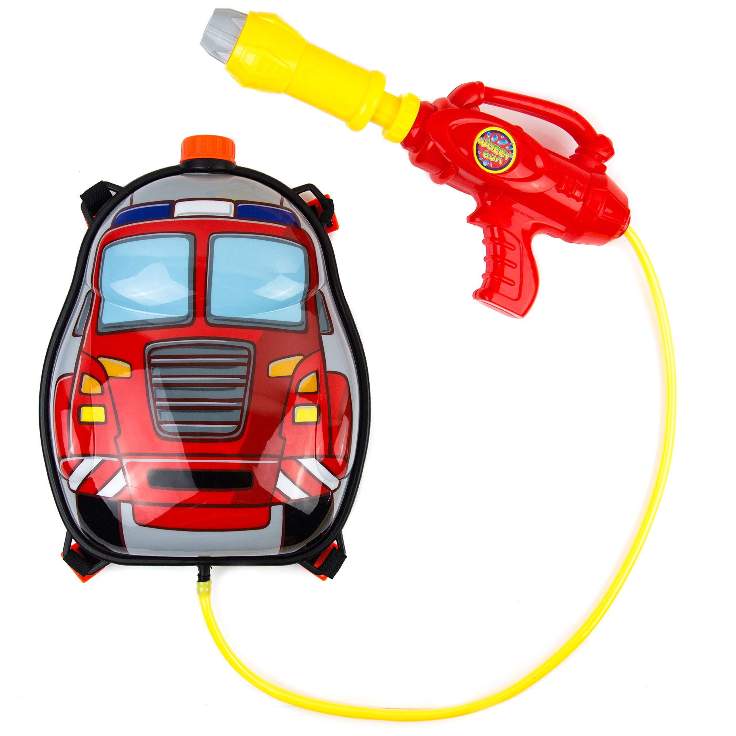 Toysery Fire Truck Backpack Water Gun | Super Cute Design | Fun Time Vacation | Safe and Durable | Great for Outdoor Play | Ultimate Fun for Kids | Ideal for Gift by Toysery