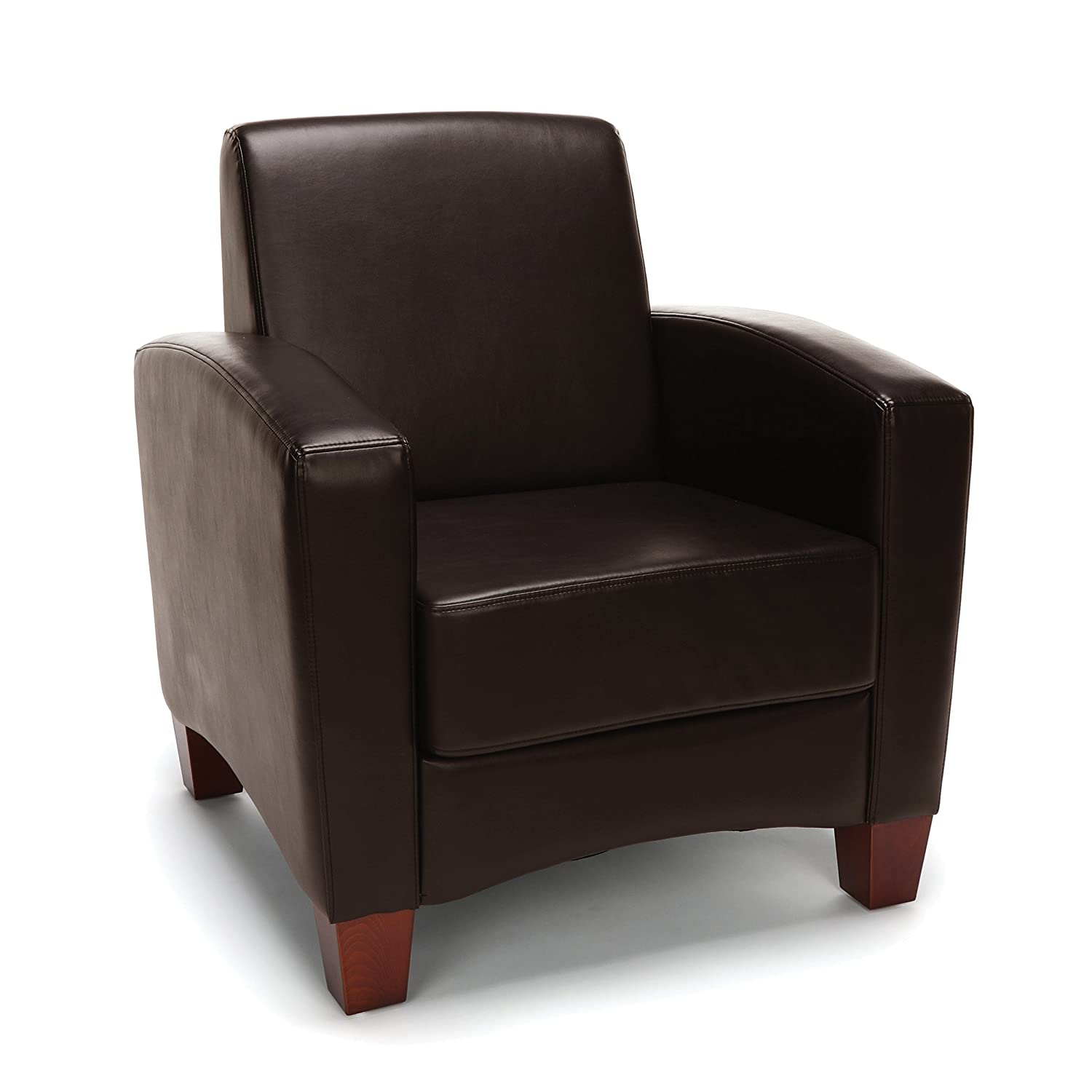 Excellent Details About Contemporary Design Brown Leather Reception Area Side Chair Waiting Room Chair Gmtry Best Dining Table And Chair Ideas Images Gmtryco