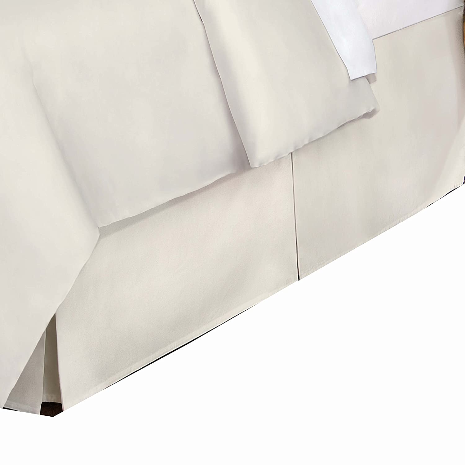 Belles & Whistles 400 Tc Bed Skirt, Queen, Ivory Levinsohn Textile LEV27618IVOR03