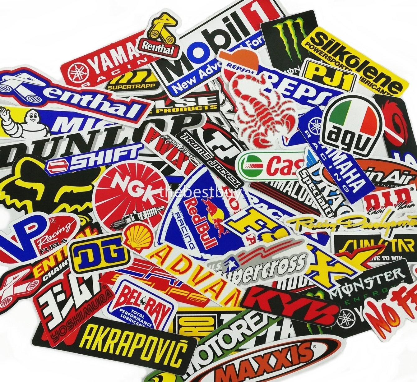 Amazon com 45 pcs mixed random motocross motorcycle car racing decal stickers automotive
