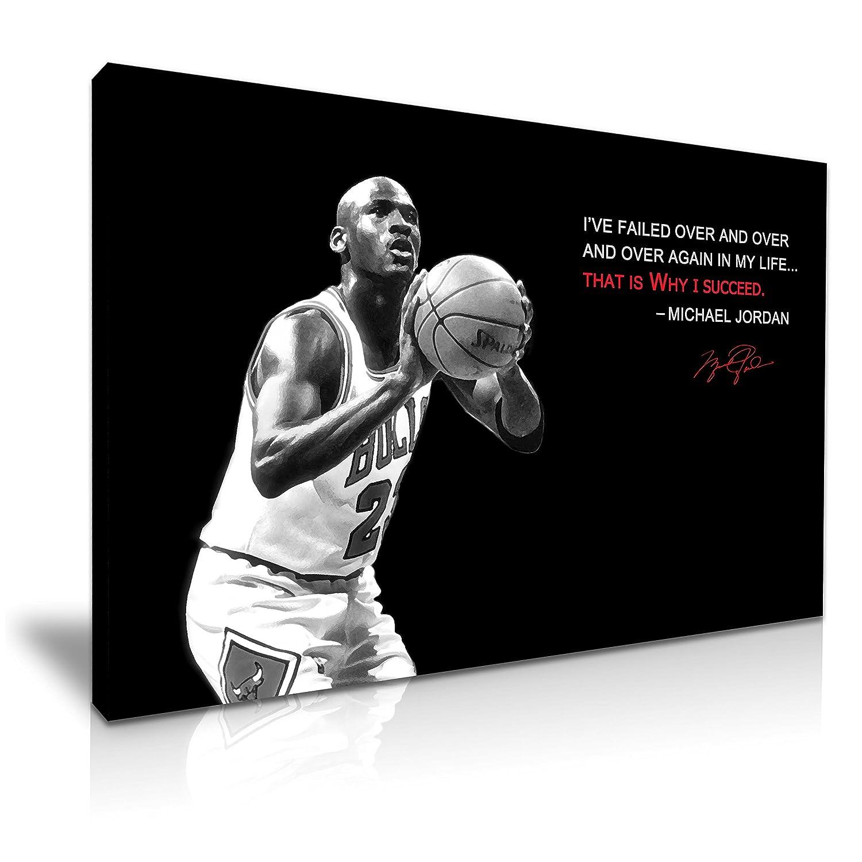 Michael Jordan Zitat Leinwand modernes Wandtattoo Art 76 x 50 cm ...