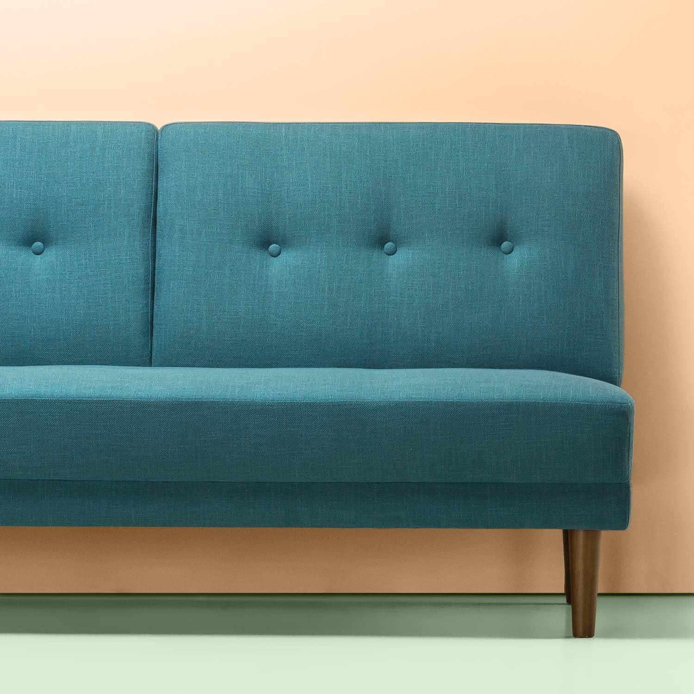 Turquoise Loveseat Zinus Juan Mid-Century 51 Inch Armless Sofa Couch