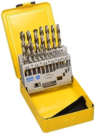 DeWalt DT5923-QZ - Juego de 19 Brocas para Metal Hss-G Din 338 en Cassette Metálica Ø 1-10mm: Amazon.es: Industria, empresas y ciencia